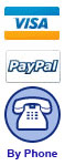 Pay by Visa Paypal or Over the Phone.