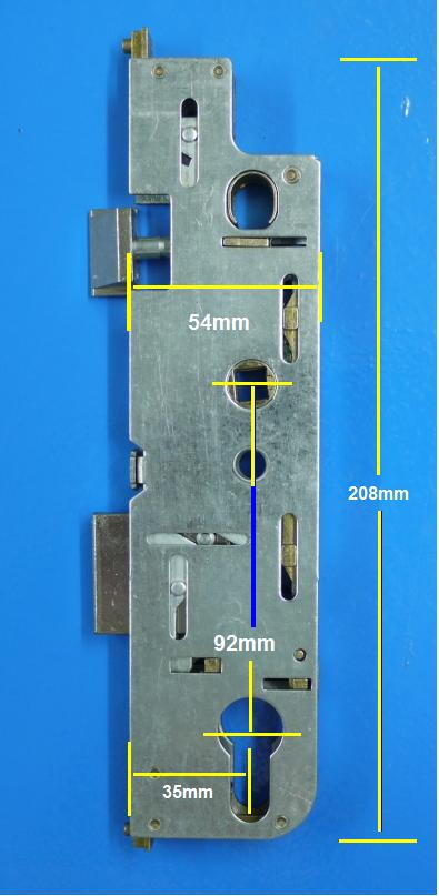 Replacement gearbox for GU upvc locking systems - Old style