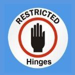 Restricted UPVC Window hinges