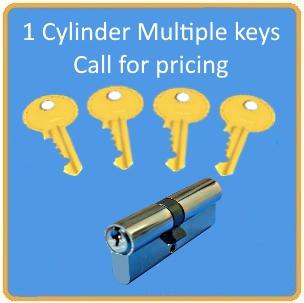 Cylinders with mulitple keys